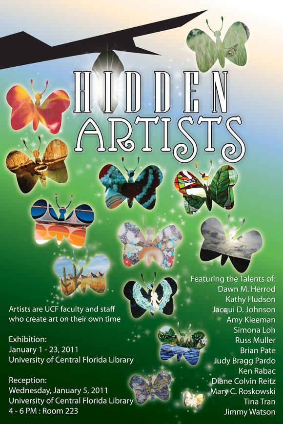 Hidden Artists 2011 poster and postcard