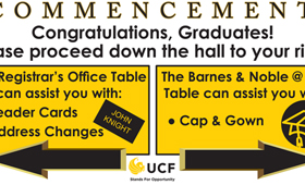 UCF Commencement Signs